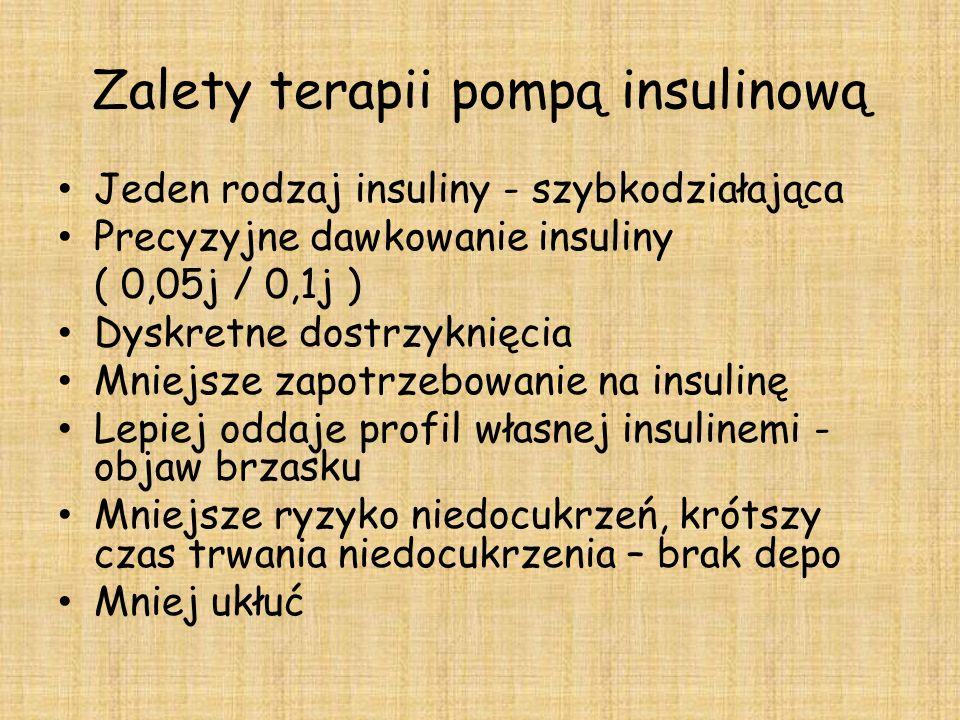 Zalety terapii pompą insulinową