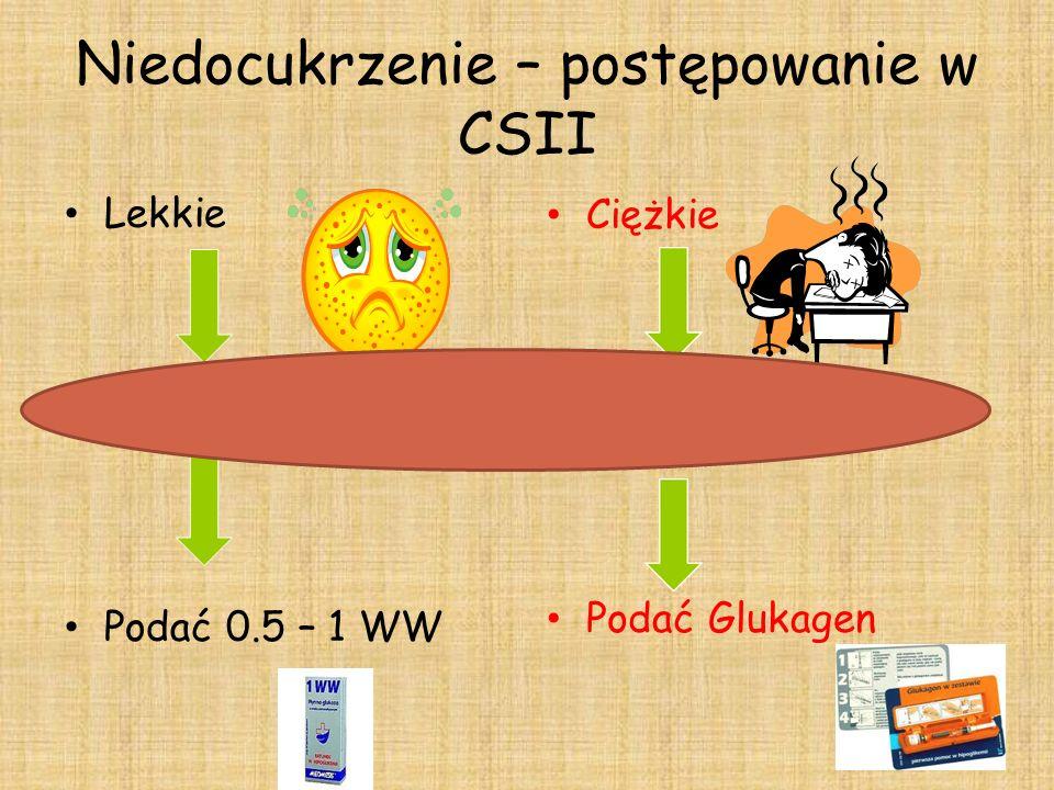 Niedocukrzenie – postępowanie w CSII