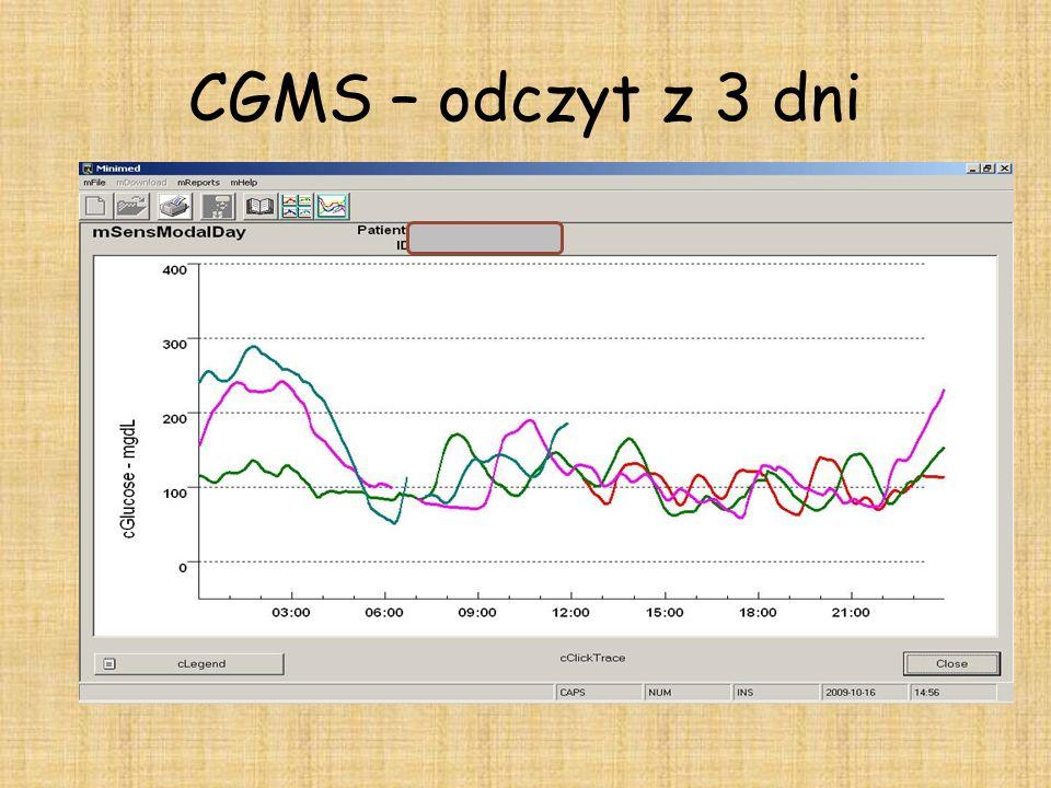 CGMS – odczyt z 3 dni