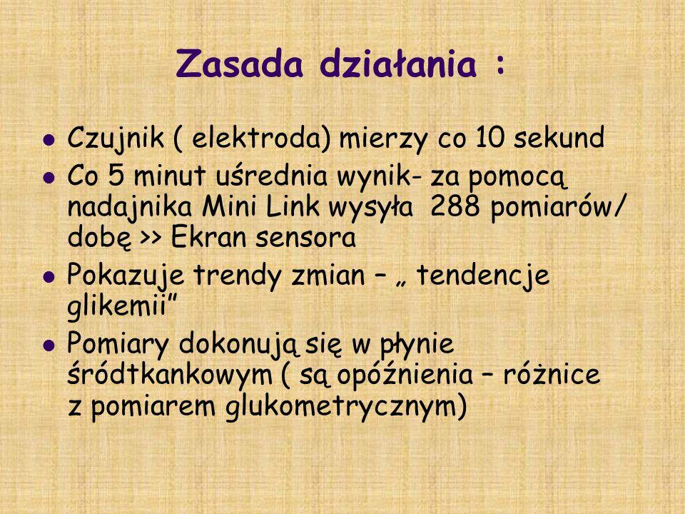 Zasada działania : Czujnik ( elektroda) mierzy co 10 sekund