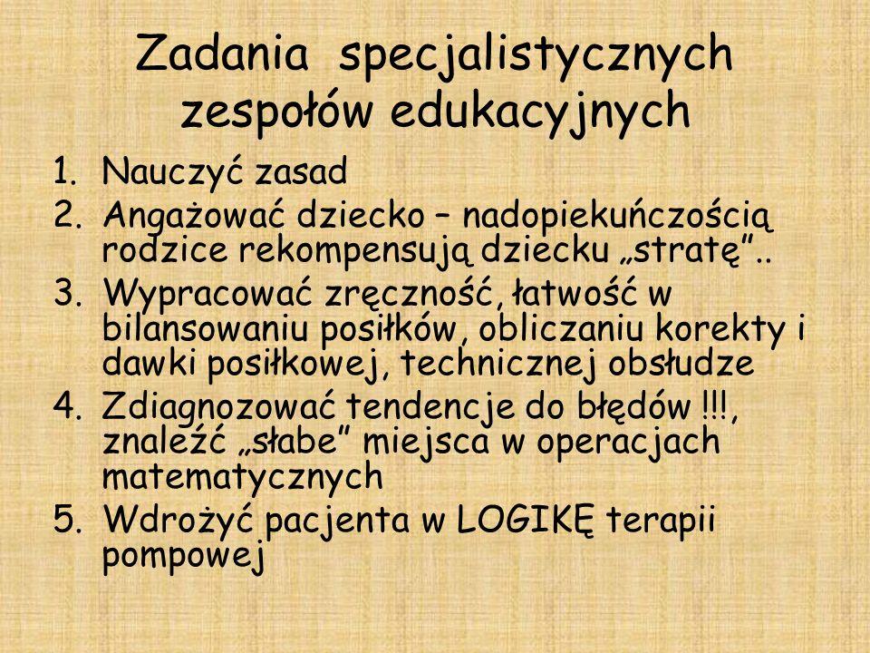 Zadania specjalistycznych zespołów edukacyjnych