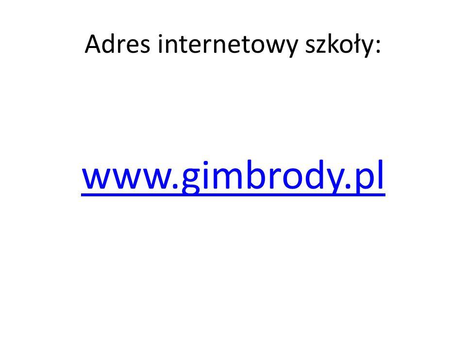 Adres internetowy szkoły: