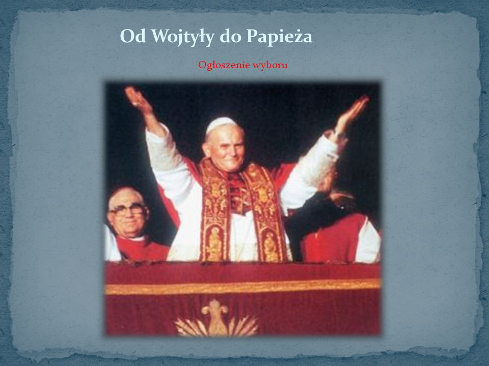 Od Wojtyły do Papieża Ogłoszenie wyboru