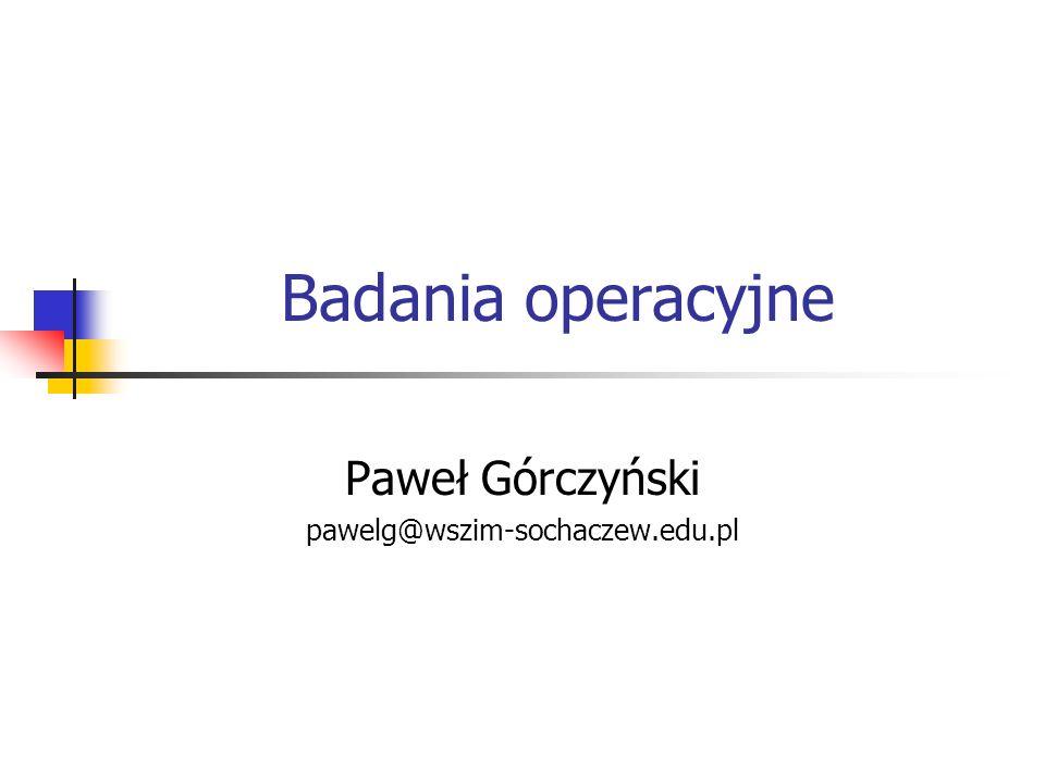 Paweł Górczyński pawelg@wszim-sochaczew.edu.pl
