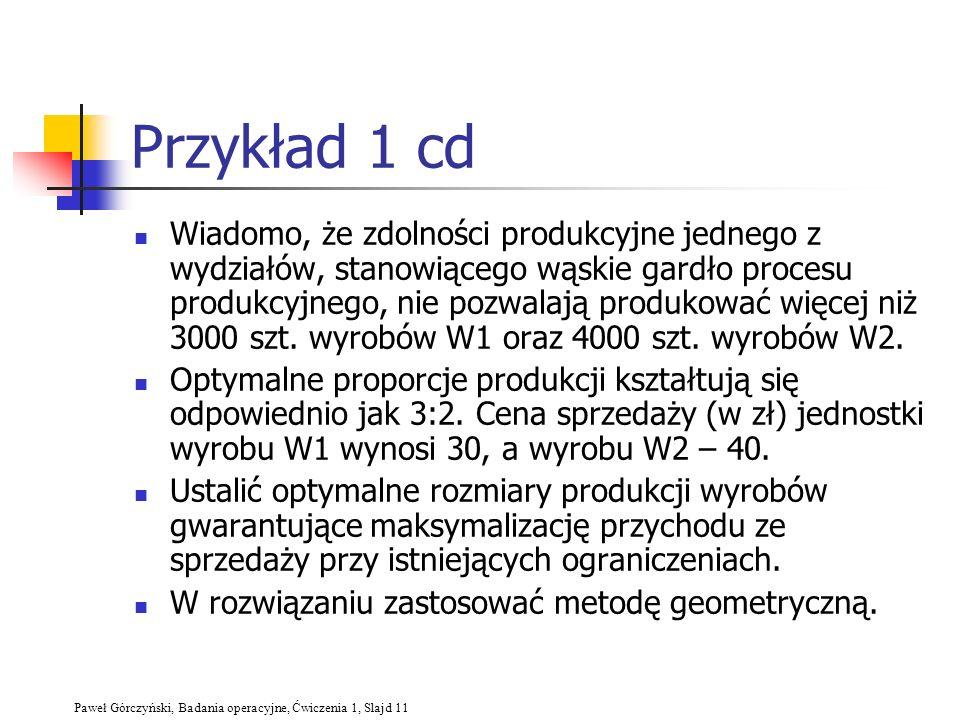 Przykład 1 cd