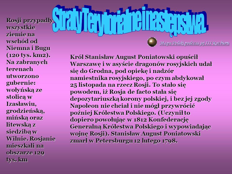 Straty Terytorialne i następstwa.