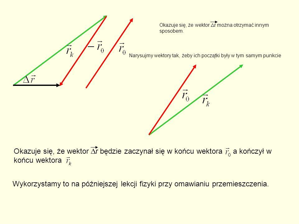 Okazuje się, że wektor r można otrzymać innym sposobem.