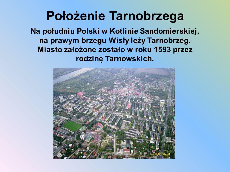 Położenie Tarnobrzega