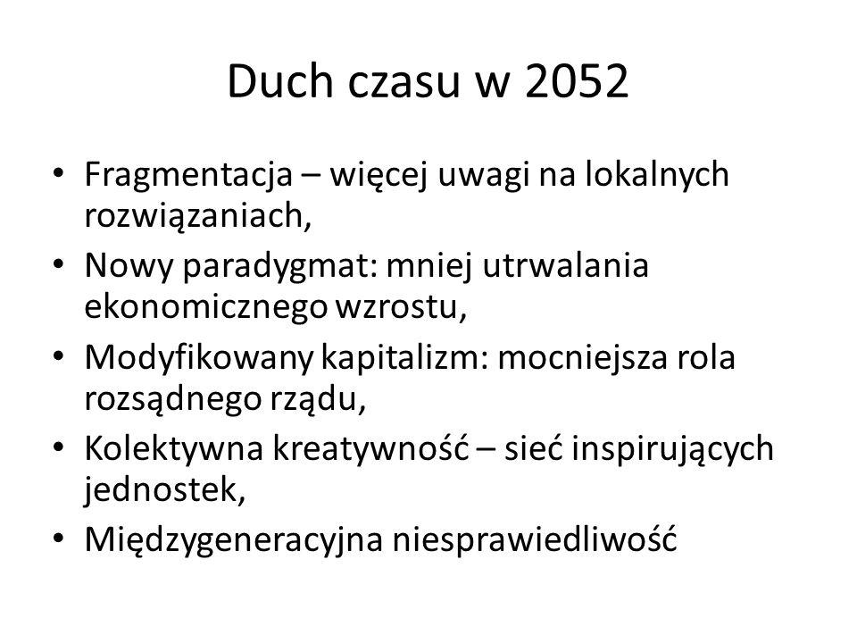 Duch czasu w 2052 Fragmentacja – więcej uwagi na lokalnych rozwiązaniach, Nowy paradygmat: mniej utrwalania ekonomicznego wzrostu,