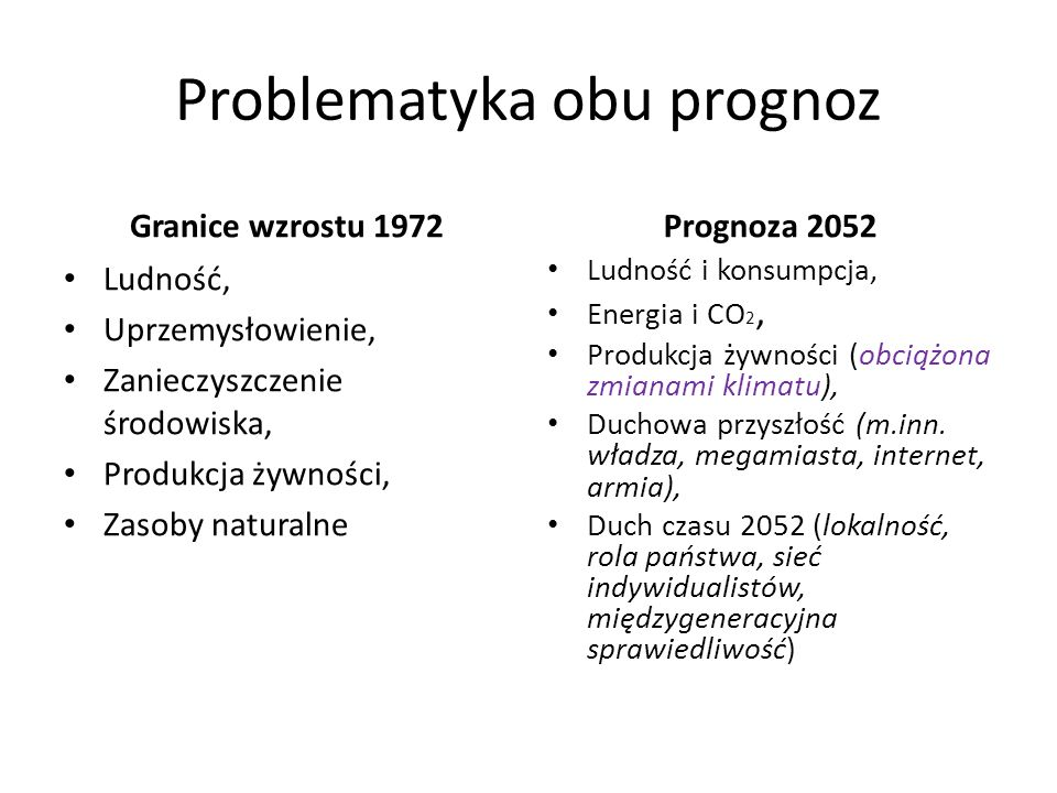 Problematyka obu prognoz