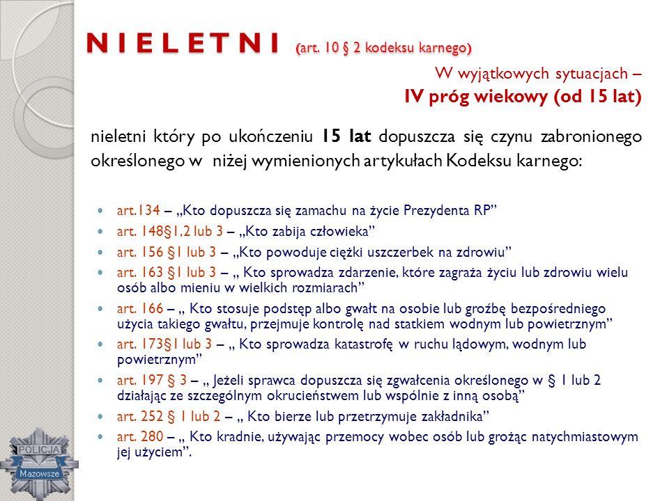 N I E L E T N I (art. 10 § 2 kodeksu karnego)