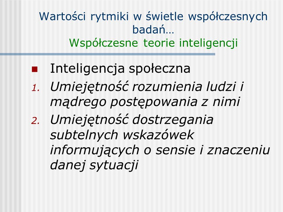 Inteligencja społeczna