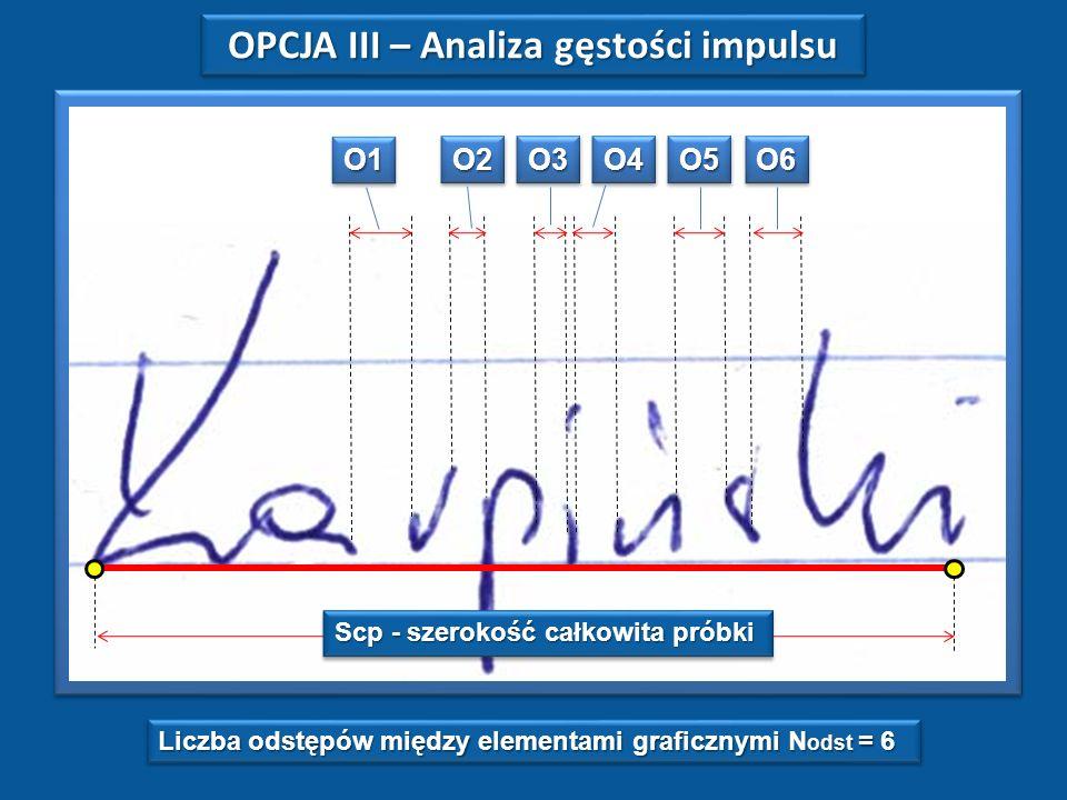 OPCJA III – Analiza gęstości impulsu