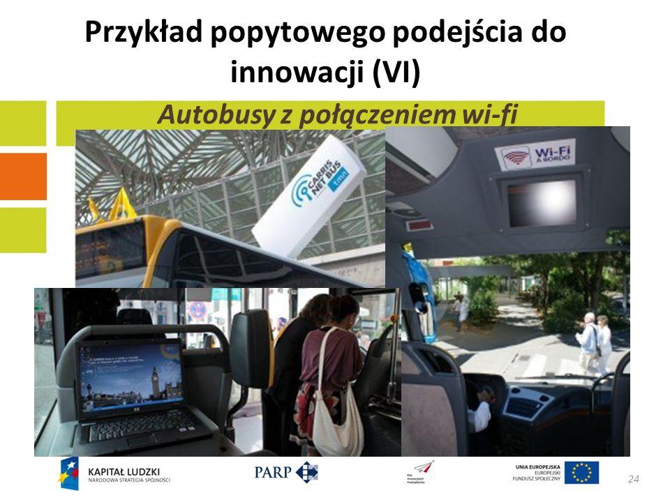 Przykład popytowego podejścia do innowacji (VI)