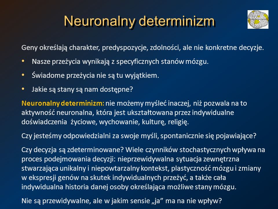 Neuronalny determinizm