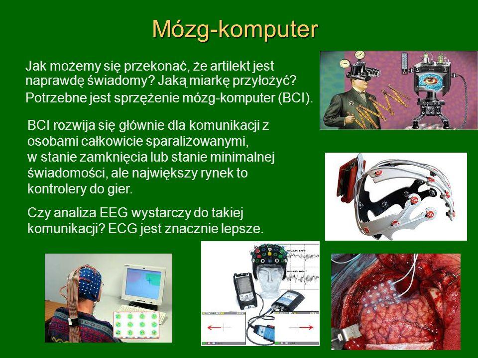 Mózg-komputer Jak możemy się przekonać, że artilekt jest naprawdę świadomy Jaką miarkę przyłożyć Potrzebne jest sprzężenie mózg-komputer (BCI).