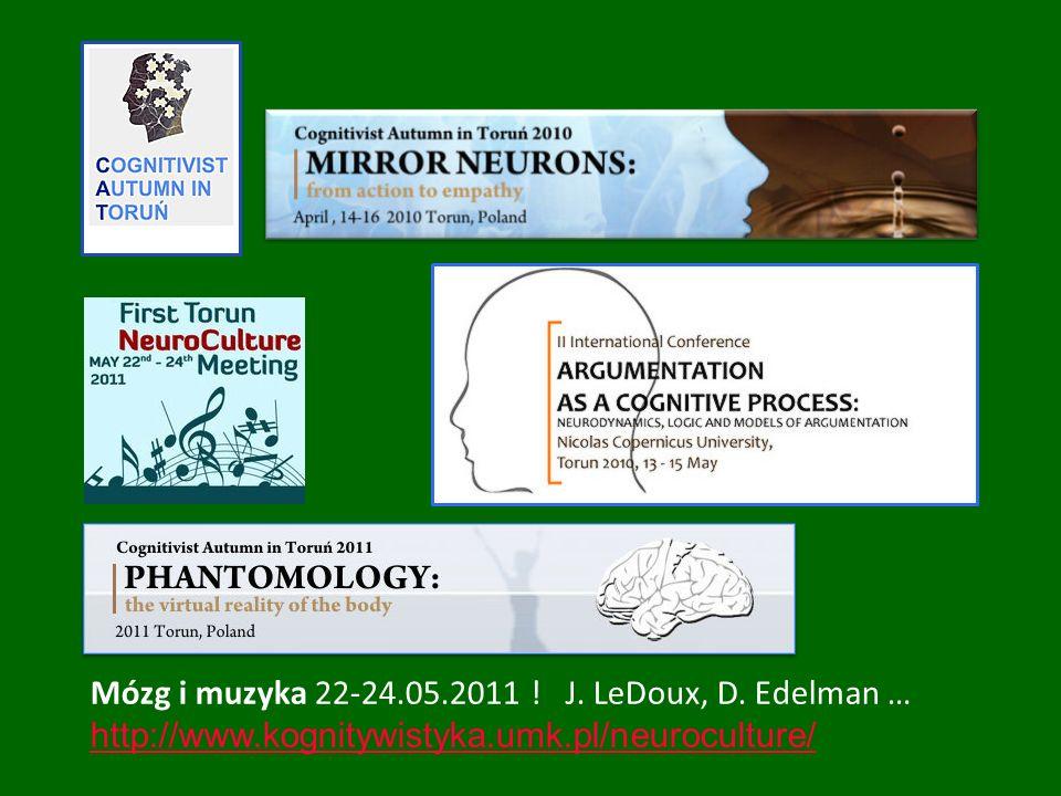 Mózg i muzyka 22-24.05.2011 ! J. LeDoux, D. Edelman …
