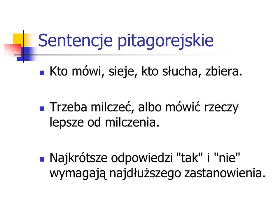Sentencje pitagorejskie
