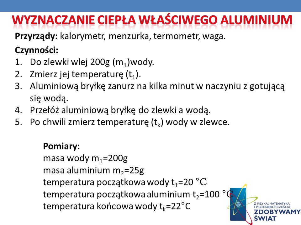 Wyznaczanie ciepła właściwego aluminium