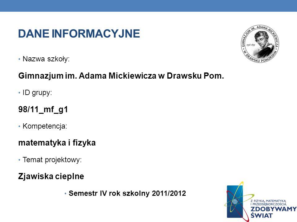 Semestr IV rok szkolny 2011/2012