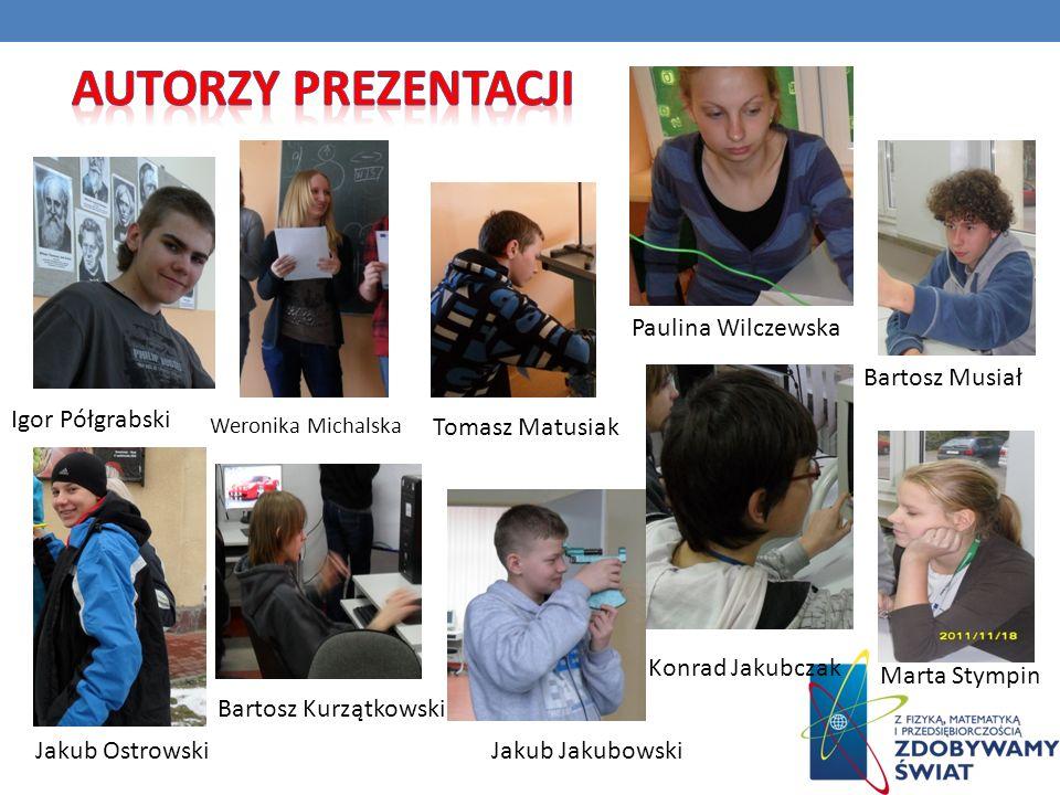 Autorzy prezentacji Paulina Wilczewska Bartosz Musiał Igor Półgrabski