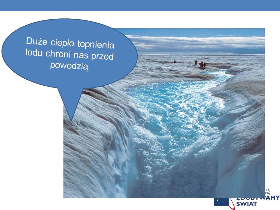 Duże ciepło topnienia lodu chroni nas przed powodzią