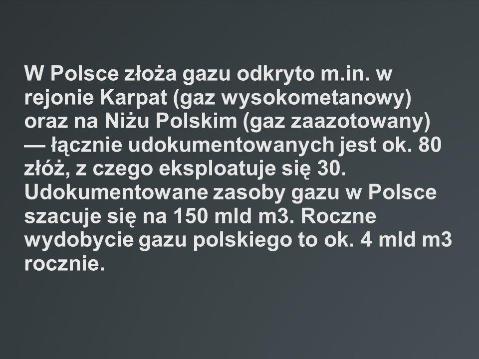 W Polsce złoża gazu odkryto m. in