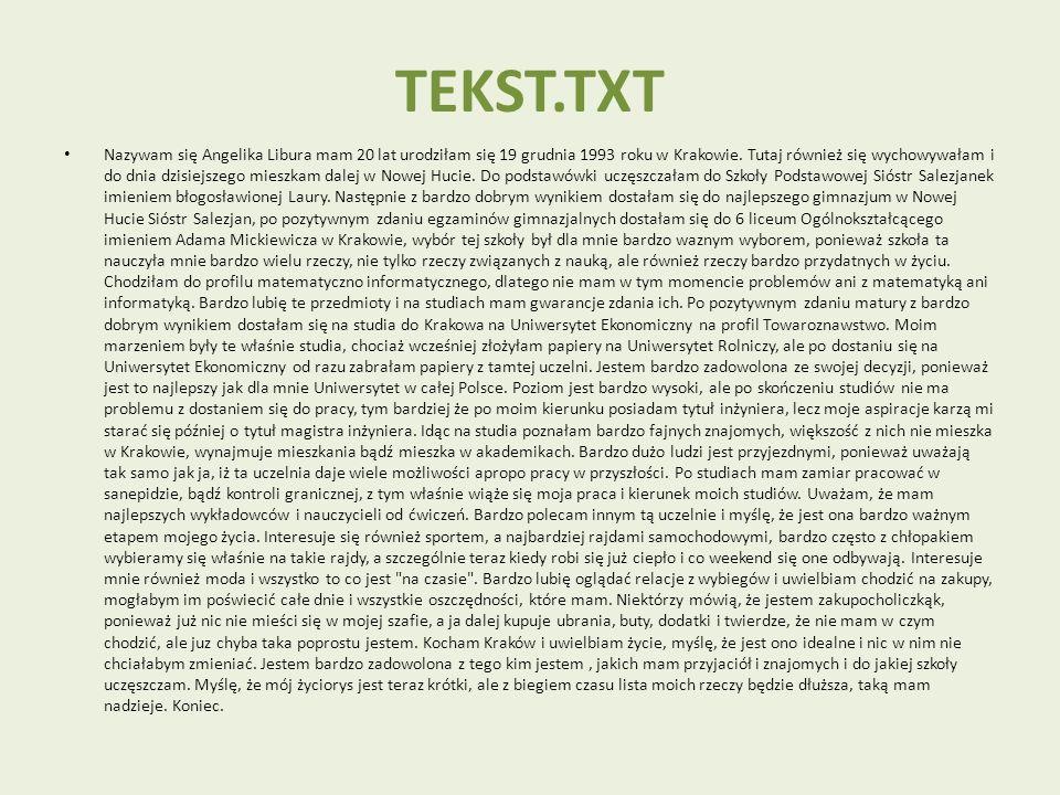 TEKST.TXT