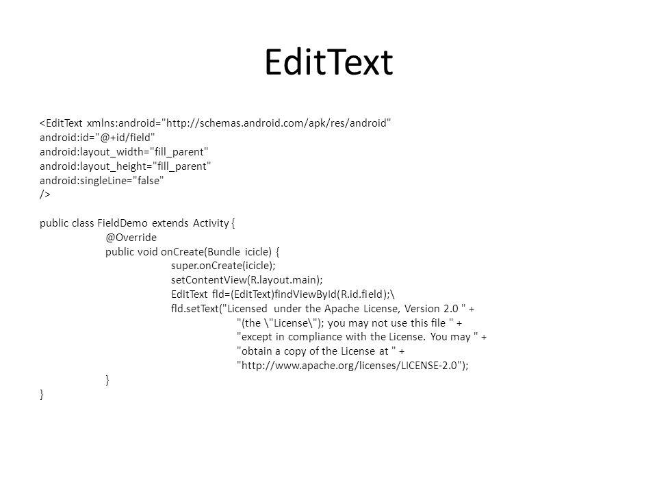 EditText