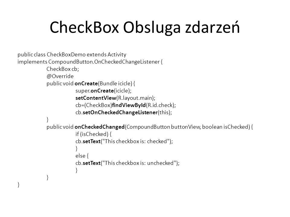 CheckBox Obsluga zdarzeń