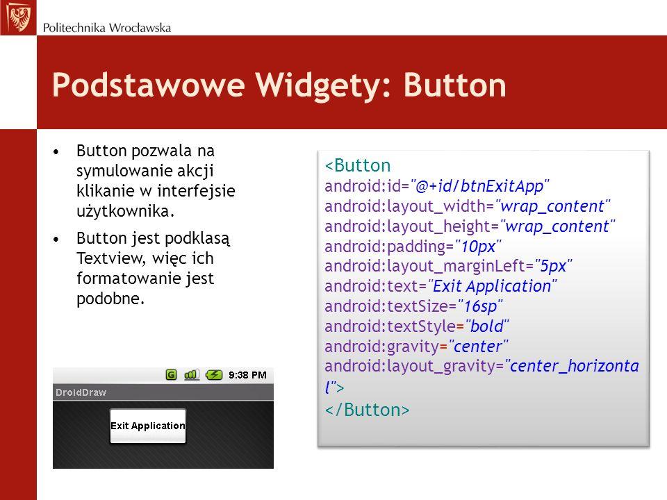 Podstawowe Widgety: Button