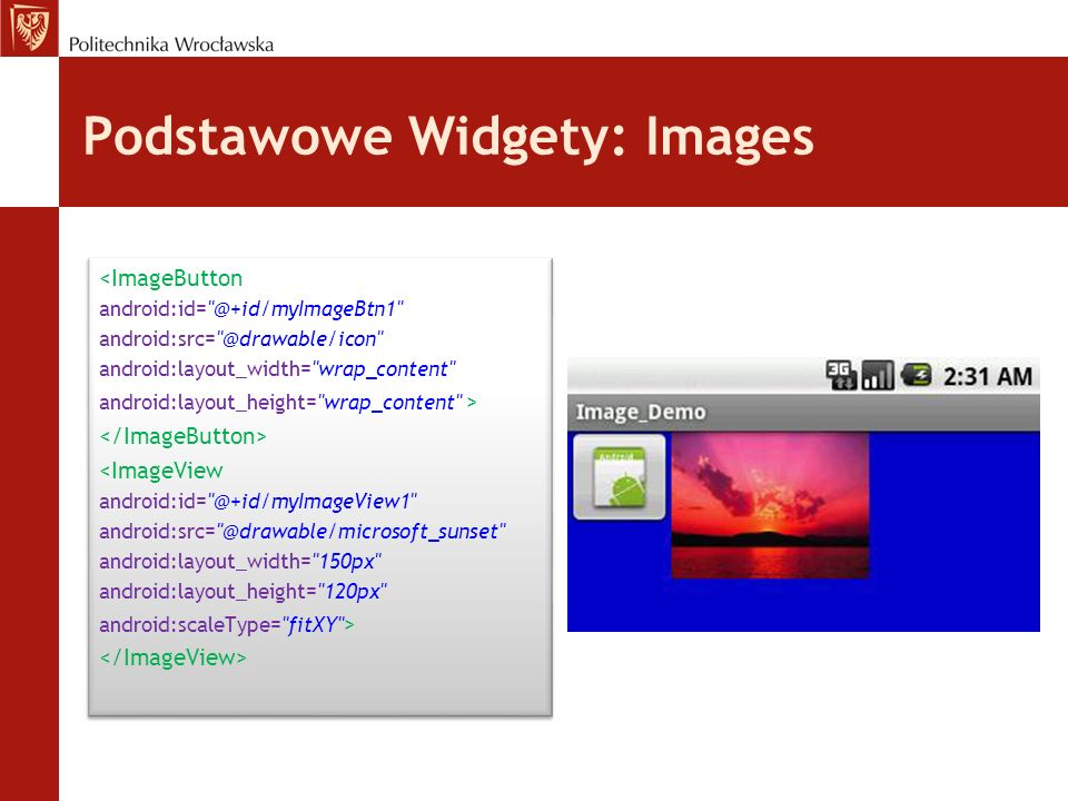 Podstawowe Widgety: Images