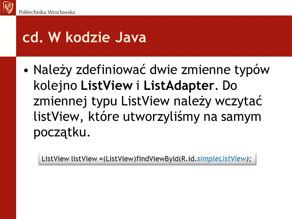 cd. W kodzie Java