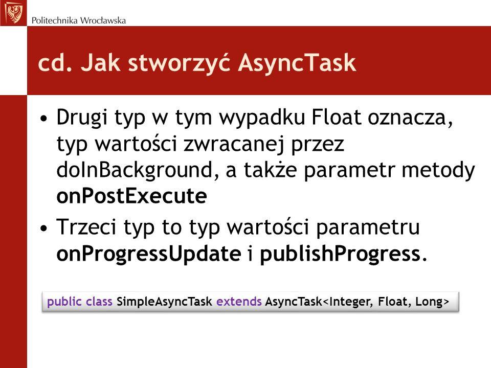 cd. Jak stworzyć AsyncTask