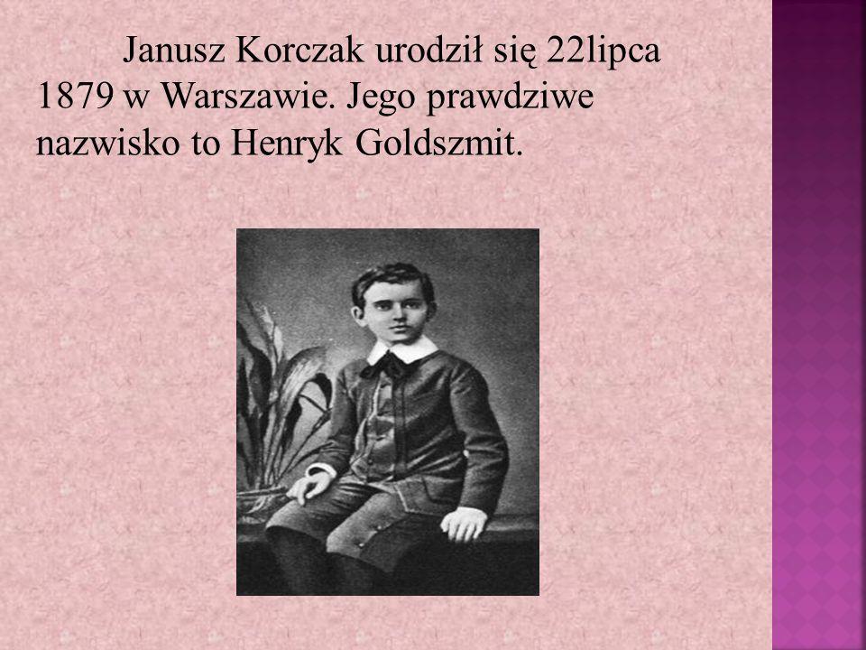 Janusz Korczak urodził się 22lipca 1879 w Warszawie