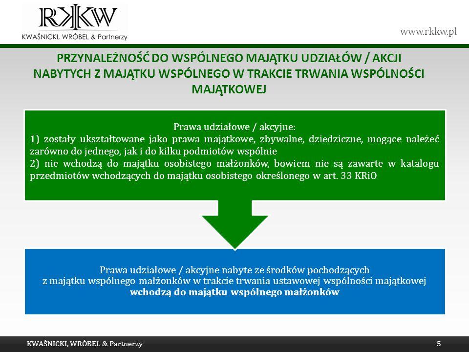 Prawa udziałowe / akcyjne: