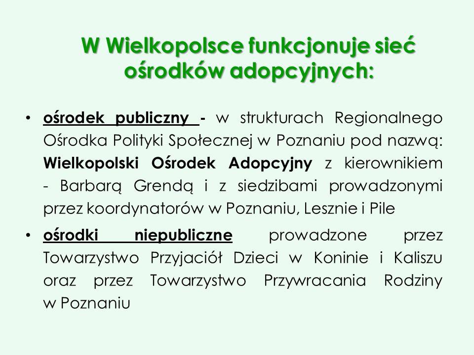 W Wielkopolsce funkcjonuje sieć ośrodków adopcyjnych: