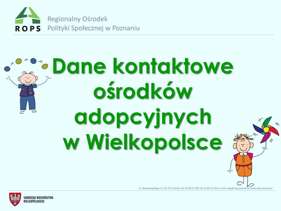 Dane kontaktowe ośrodków adopcyjnych w Wielkopolsce