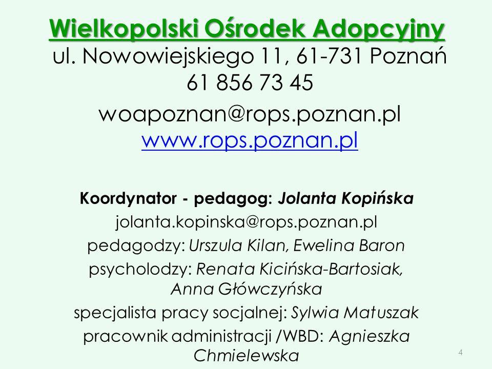 Koordynator - pedagog: Jolanta Kopińska