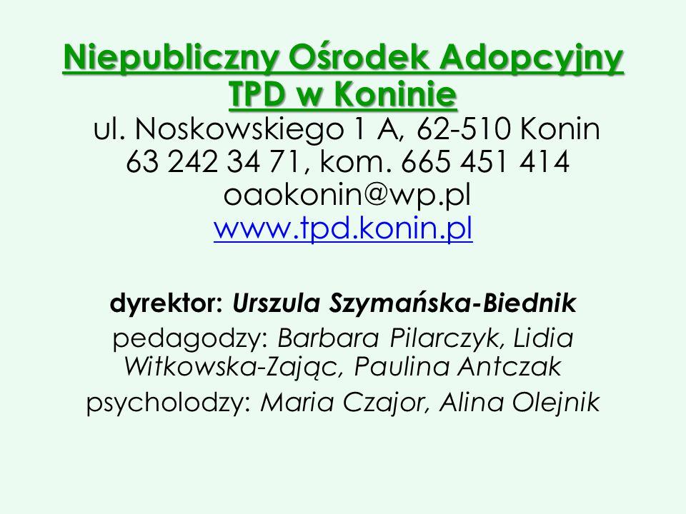 dyrektor: Urszula Szymańska-Biednik