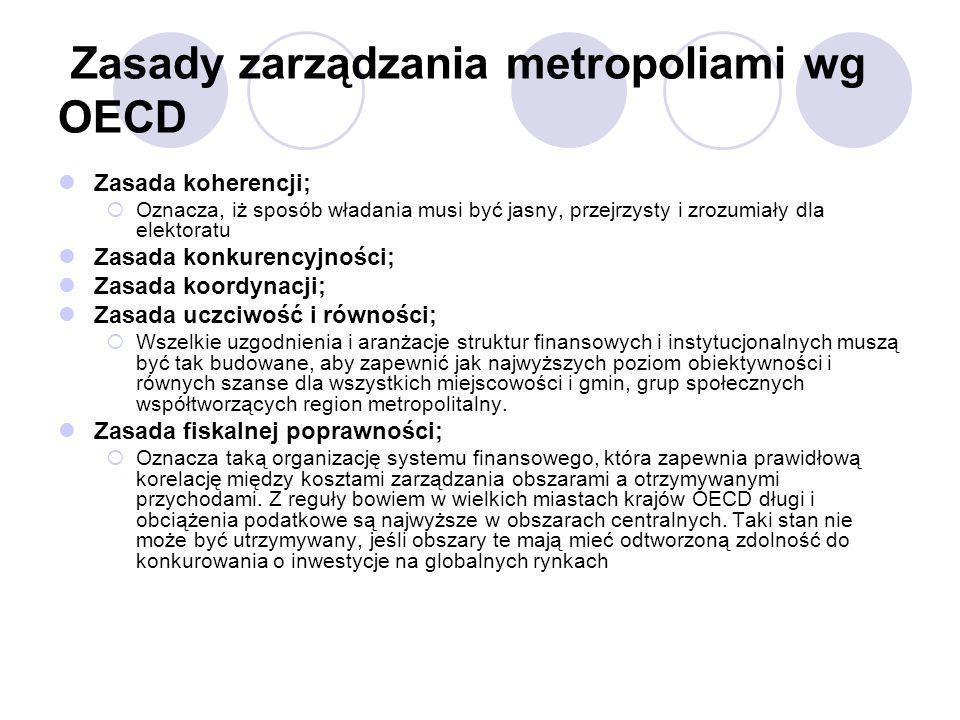 Zasady zarządzania metropoliami wg OECD