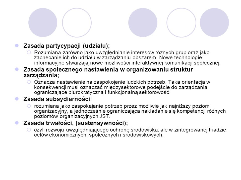 Zasada partycypacji (udziału);