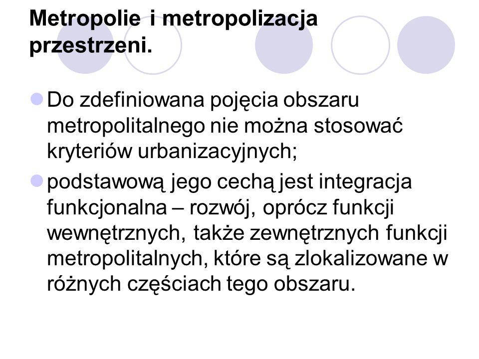 Metropolie i metropolizacja przestrzeni.