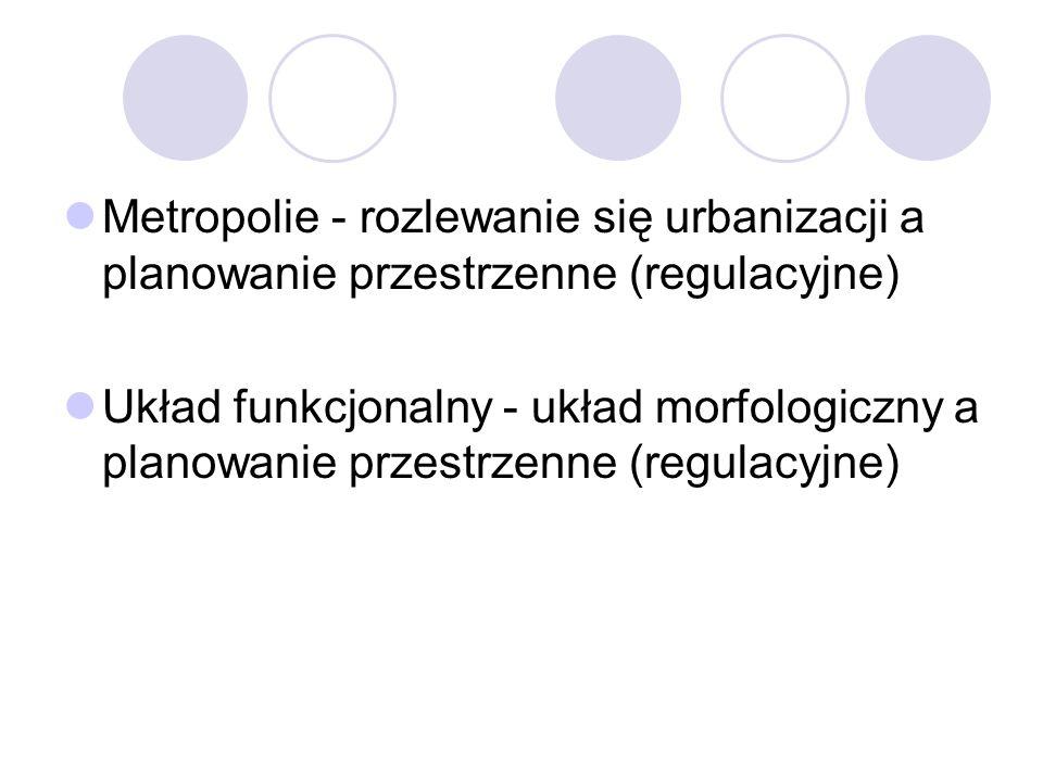 Metropolie - rozlewanie się urbanizacji a planowanie przestrzenne (regulacyjne)