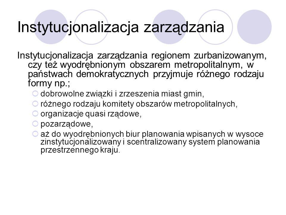 Instytucjonalizacja zarządzania