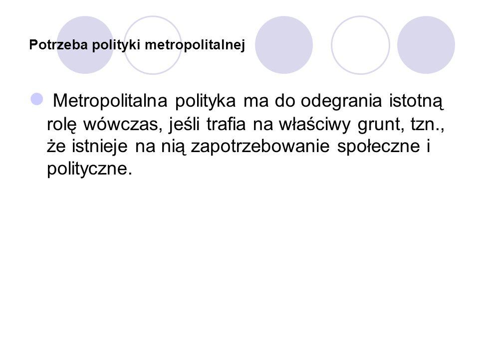 Potrzeba polityki metropolitalnej
