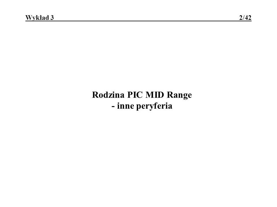 Rodzina PIC MID Range - inne peryferia