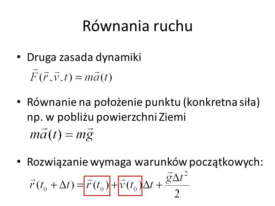 Równania ruchu Druga zasada dynamiki