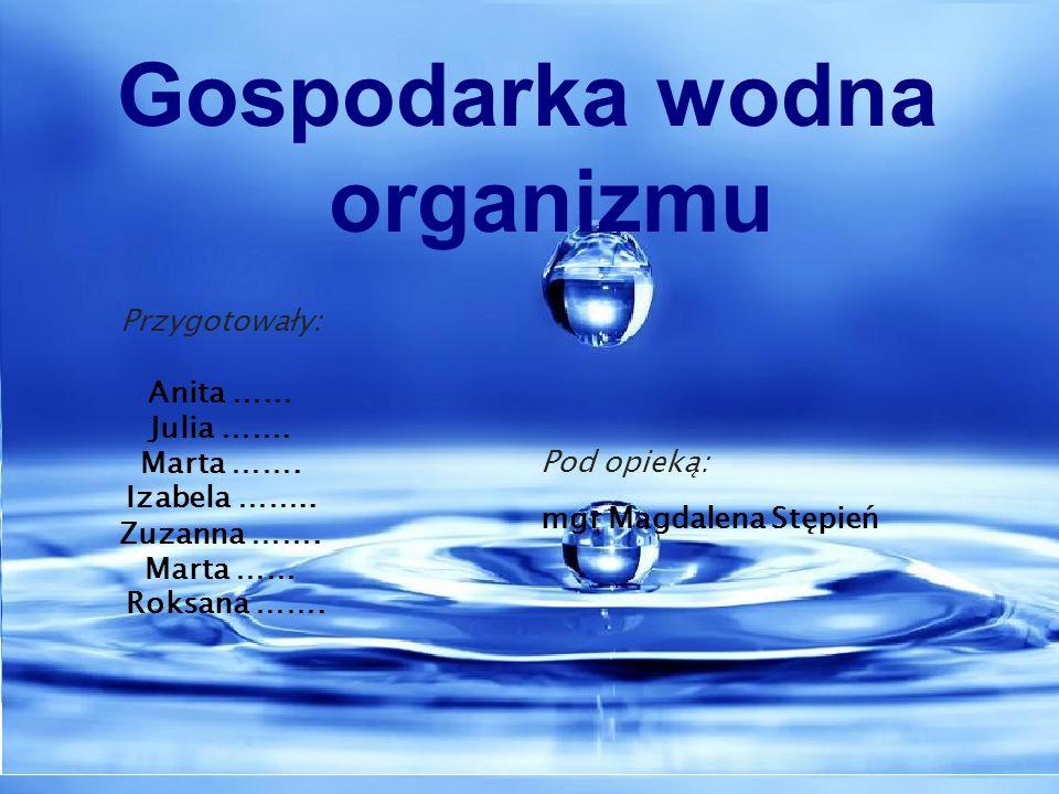 Gospodarka wodna organizmu