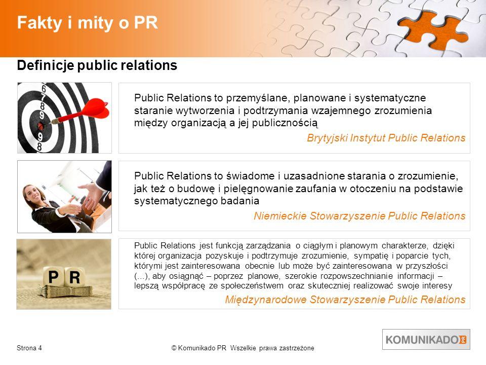 Fakty i mity o PR Definicje public relations